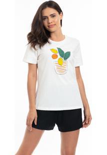 Camiseta Feminina Limonada Bege - Tricae