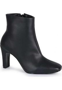 Ankle Boots Feminina Lara Bico Quadrado Elegante P