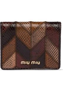Miu Miu Clutch Ayers Com Patchwork - Marrom