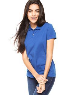 ... Camisa Polo Manga Curta Malwee Slim Azul 83b4e8a88e56b