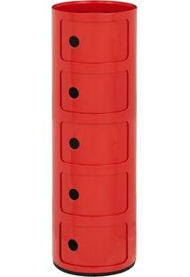 Módulo Componibili 5 Andares - Vermelho
