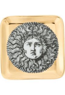 Fornasetti Cinzeiro De Cerâmica Quadrado - Preto