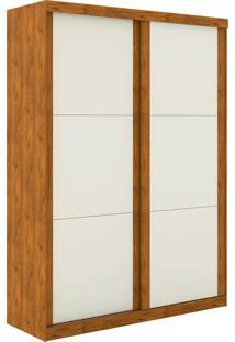Guarda Roupa Prático 2 Portas De Correr S/ Espelho Nature Off White Madeirado Robel Móveis - Tricae