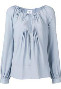 Dondup Drawstring Neck Blouse - Azul