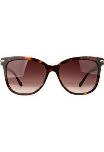 Óculos De Sol Ana Hickmann Tartaruga Feminino - Feminino-Marrom
