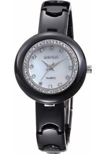 a21ddddcd4b ... Relógio Weiqin Analógico Cerâmica W3206 - Feminino-Branco
