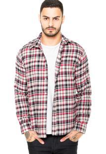 Camisa Colcci Flanelada Rosa