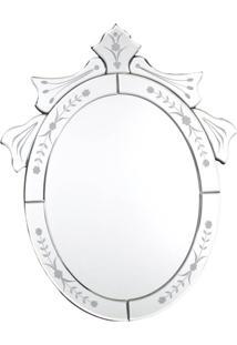 Espelho Veneziano Oval 50Cmx40Cm Besha - Kanui