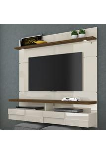Painel Para Tv 2 Portas Lana 160 Cm 275122 Off White/Savana - Madetec