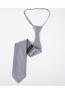 Gravata Knot Maquinetada Quadriculada