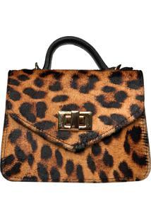 Bolsa Transversal Leopard Cakau Acessã³Rios - Caramelo - Feminino - Dafiti