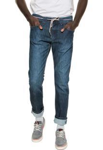 Calça Jeans Element Slim Desoto Azul-Marinho