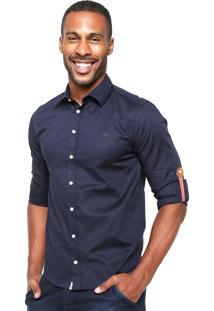 Camisa Triton Slim Azul-Marinho
