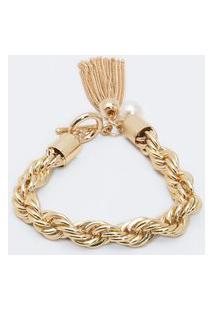 Pulseira Larga Com Correntes Trançadas | Accessories | Dourado | U