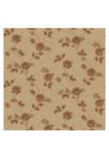 Papel De Parede Flowertime Ff202-06 Dourado Vinílico Com Estampa Contendo Floral