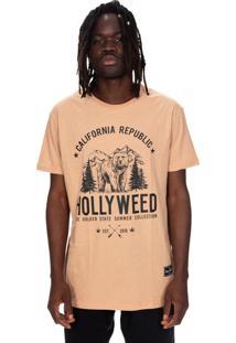 Camiseta Hollyweed California Republic Café Com Leite