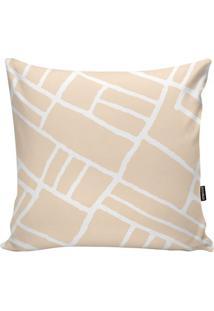Capa Para Almofada Geometric- Nude & Branca- 45X45Cmstm Home