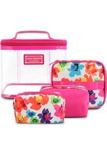 Kit De Necessaire Jacki Design De 4 Pçs Ahl17230-Pk Pink Unico
