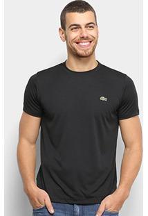 Camiseta Lacoste Básica Masculina - Masculino-Preto