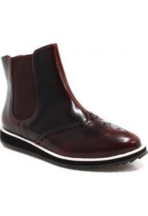 Bota Oxford Zariff Shoes Flatform Chelsea