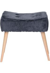 Puff Banqueta Fluffy Pelúcia - Stay Puff - Grafite