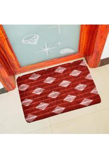 Capacho Carpet Triangulos Separados Vermelho