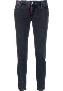 Dsquared2 Calça Jeans Skinny Cropped - Cinza