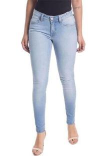 Calça Jeans Cigarrete Linda Z Skinny 206621305 Azul 50 - Feminino