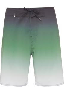 Bermuda Masculina Surf Sunset Degradê - Verde