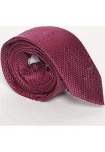 Gravata Texturizada Com Seda - Bordô - 6X154Cmcalvin Klein
