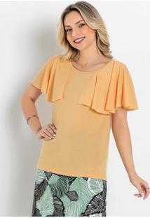 Blusa Amarela Com Sobreposição Moda Evangélica