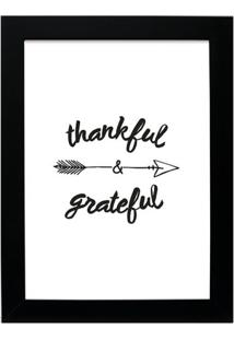 Quadro Decorativo Thankful Preto