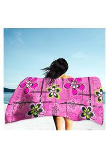 Toalha De Praia / Banho Flores Único