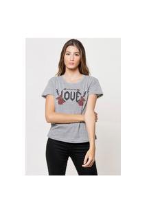 Camiseta Jay Jay Basica Who Do You Love Cinza Mescla Dtg