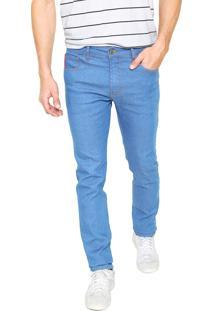 Calça Jeans Coca-Cola Jeans Skinny Pesponto Azul