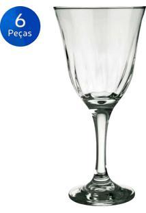 Jogo De Taças Para Vinho 250Ml 6 Peças Lírio - Nadir - Transparente