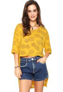 Camiseta Coca-Cola Jeans Mullet Amarela
