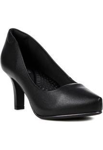 Sapato Scarpin Feminino Comfortflex Preto