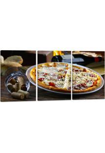 Quadro Canvas 60X120Cm Oppen House Pizza Gastronomia Lanches Vinhos Condimentos - Multicolorido - Dafiti