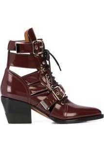 Chloé Ankle Boot Rylee - Vermelho