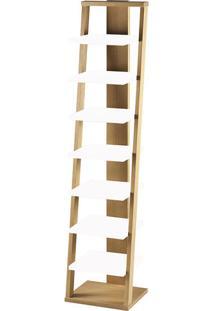 Estante Prateleira Suspensa Stairway Maxima Palha/Branco