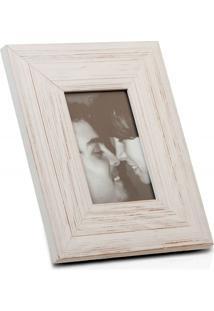 Porta Retrato Largo Em Madeira Juquey 15X10Cm Branco