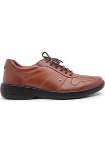 Sapato Conforto Centuria Fairbanks 691 Masculino - Masculino-Caramelo