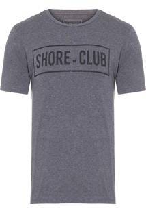 Camiseta Masculina Shore Club - Cinza