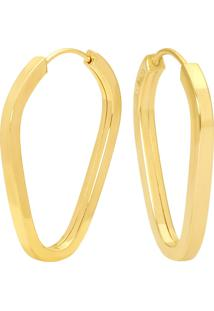 Argola Pingo Ouro Amarelo 19 Mm