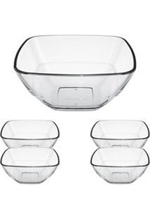 Jogo De Saladeiras Quadre Em Vidro Sodacal Com 05 Peças - Duralex
