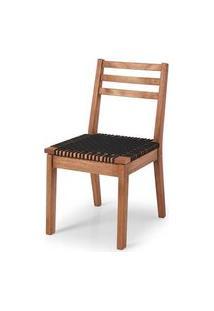 Cadeira Cordoba Assento Corda Preta 86Cm - 60378 Preto