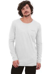 Camiseta Urbô Cotton Cold Bolso Branca
