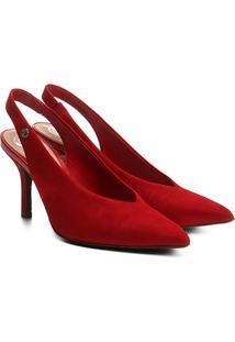 Scarpin Dumond Chanel Salto Alto - Feminino-Vermelho