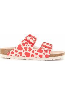 Birkenstock Sandália Arizona Com Estampa De Coração - Rosa